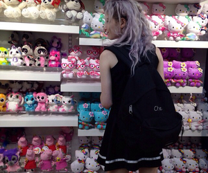 grunge, hello kitty, and hair image
