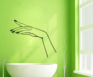 hand, manicure, and wall decals image