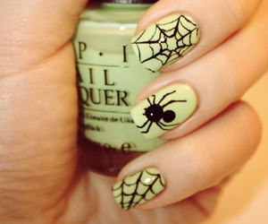 nails, spider, and Halloween image