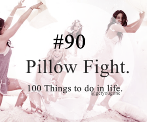 100 things to do in life, 90, and pillow image