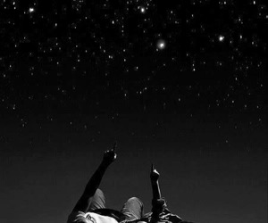 couple, romantic, and stars image