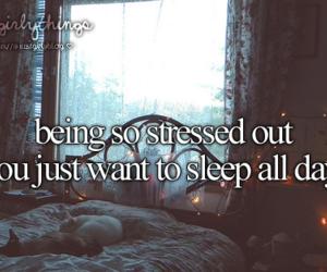 sleep, girly, and stress image