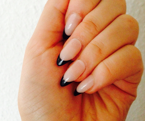 black & white, nails, and chic image