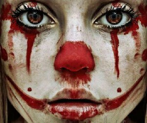 clown, blood, and red image