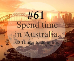 australia, 61, and 100 things to do in life image
