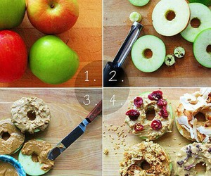food, healthy, and apple image