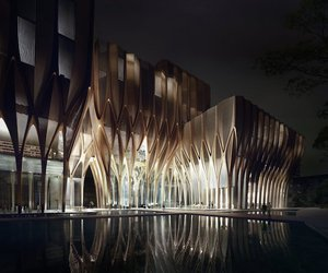 buildings, wooden, and designs image
