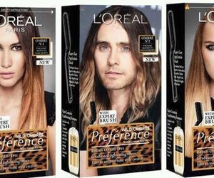 loreal, jared leto, and hair image