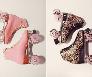 pink, leopard, and roller image