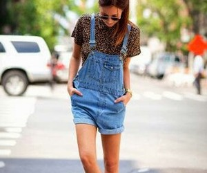 dungarees, fashion, and look image
