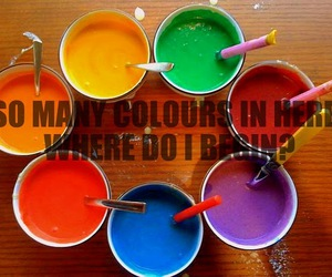 colours, paint, and text image