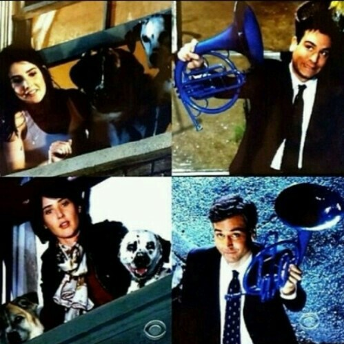 robin scherbatsky, ted mosby, and himym image
