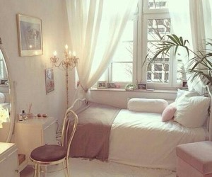 girly, pink, and rooms image