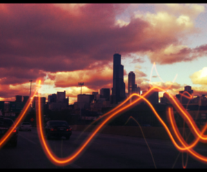 chicago, driving, and sky image
