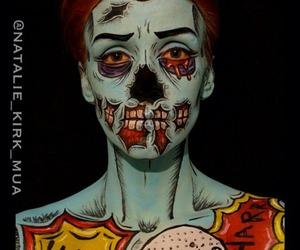 Halloween, zombie, and makeup image