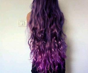 hair, purple, and long hair image
