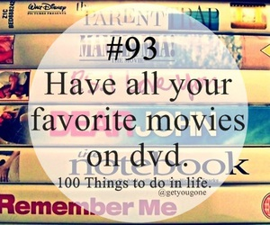 dvd, movies, and 100 things to do in life image