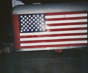 america, blue, and flag image