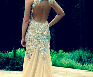 dress, Prom, and sparkle image