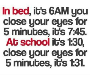 school, bed, and true image