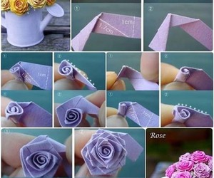 rose, diy, and Paper image