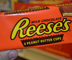 cup, chocolate, and reeses image