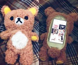 bear, cute, and phone image