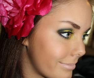 eye, eye makeup, and eyeshadow image