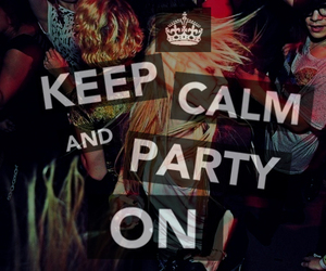 party and keep calm image