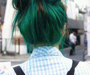 different, hair, and green image