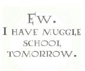harry potter, muggle, and monday image