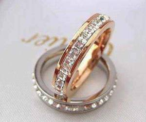 diamond, gold, and rings image