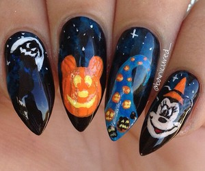 nails design and halloween nails image