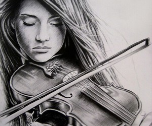 violin, girl, and music image