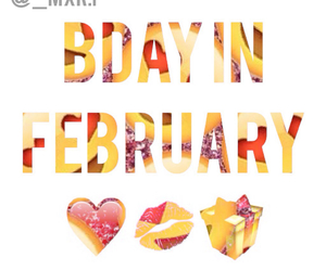 birthday, birthday cake, and february image