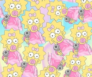 Maggie, pastel, and simpson image