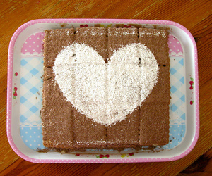 cake, heart, and table image