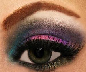 make up, eyes, and eye image