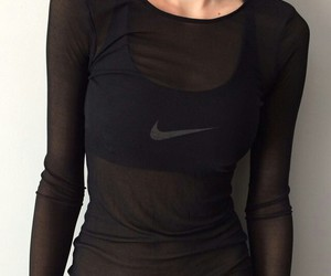 nike, black, and fit image