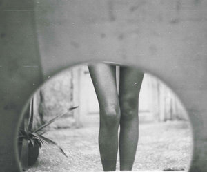 legs, girl, and black and white image