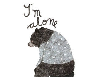 bear, drawing, and alone image