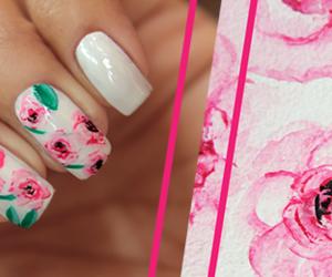 nail art, nail polish, and rosa image