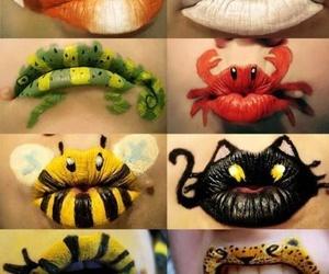 lips, animal, and bee image