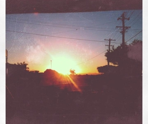 afternoon, powerlines, and sunset image