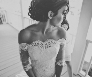 bride, dress, and couple image
