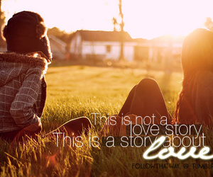 love story, quote, and story image