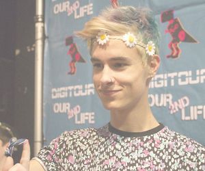 kian lawley, youtuber, and flowercrown image