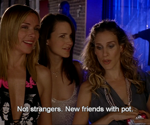 sex and the city, pot, and Carrie Bradshaw image