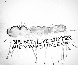 rain, quote, and summer image