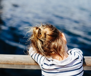 little, water, and little girl image